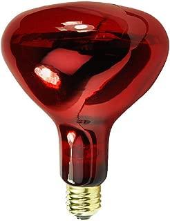 175 Watt - R40 - IR Heat Lamp - Red - 5,000 Life Hours - 130 Volt