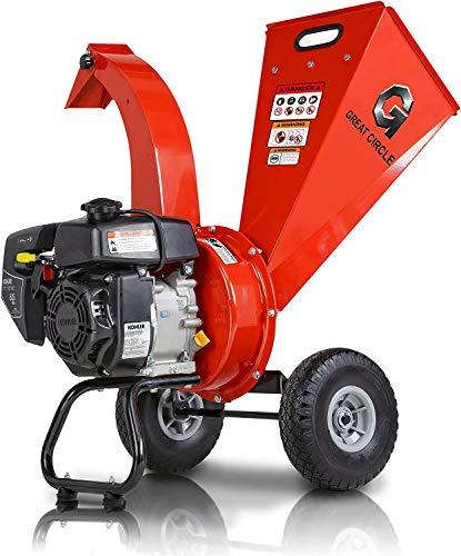 GCM Wood Chipper Shredder Mulcher Kohler Engine 6.5 HP 196cc 2.5' Inch Max Capacity (Renewed)