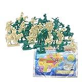 SSRSHDZW Los Hombres Ejército Plástico Modelo Soldado Juguete Militar Carácter Militar Caballería Caballo Guerra Juego Batallas Niños En Edad Preescolar 5Cm Juguete