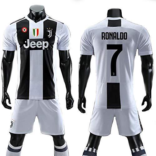 COOLBOY Ronaldo 7# Equipación Real Madrid CF Trikot Set mit Hose, Geschenke für Kinder Erw. Jungen Baby Fußball T-Shirt Bedrucken,S