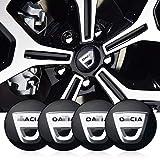 massage 4Pcs 56mm Car Wheel Center Hub Caps Cubierta Central Emblema Insignia Pegatina, para Dacia Duster Logan Sandero Lodgy