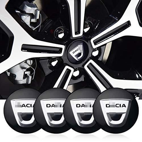 massage 4Pcs 56mm Auto Radnabenkappen Nabendeckel Felgendeckel Emblem Abzeichen Aufkleber, Für Dacia Duster Logan Sandero Lodgy