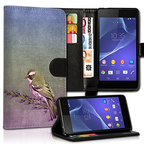 Book Style Wiko Wax Premium PU-Leder Tasche Flip Brieftasche Handy Hülle Kartenfächer mit Standfunktion für Wiko Wax - Design Flip MVC10
