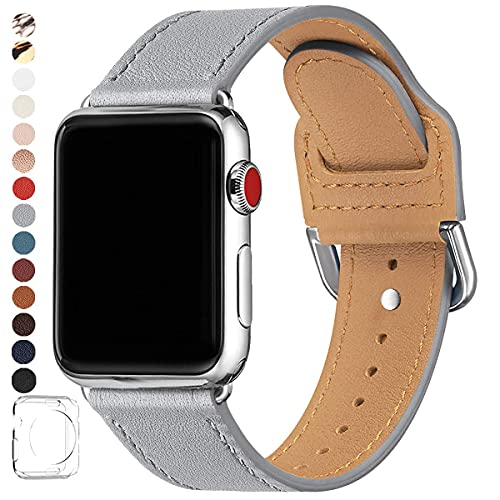 Bands Compatible with Apple Watch Band 38mm 40mm 42mm 44mm, Compatible for Men Women IWatch Series 6 5 4 3 2 1,SE (Gray/Silver,42mm 44mm)
