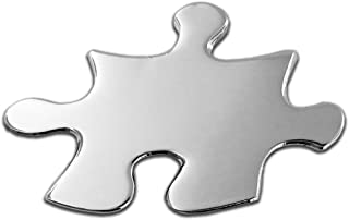 puzzle piece lapel pin wearing