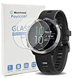 Exuun (2-Pack) Garmin Forerunner 645/645 Music Tempered Glass Screen Protector,9H Premium Real Tempered Glass Screen Protector 2.5 D Round Edge Anti Scratch Screen Protector for Garmin 645