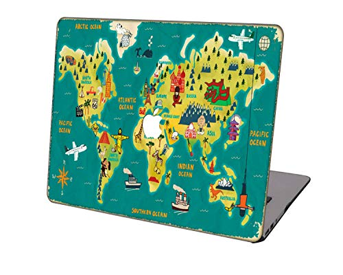 Laptop Case for New MacBook Pro 13 inch A2289/A2251/A2159/A1989/A1706/A1708,Neo-wows Plastic Ultra Slim Light Hard Shell Cover Compatible MacBook Pro 13 inch,Geography 58