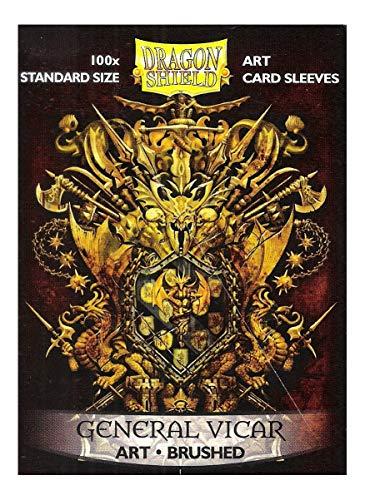 Dragon Shield Fundas para Tarjetas de Arte, tamaño estándar, 100 Unidades, con Escudo de vicario General