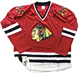 Blackhawks Jerseys - Three (3) Colors and 10 Sizes, We Add Your Name and Number (Red, Adult Medium)