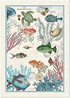 Michel Design Works Sea Life Cotton Kitchen Towel, Multicolor
