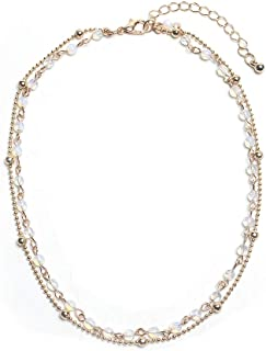 Layered Opal Choker Necklace for Women