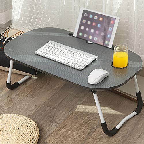 ZXPAG Laptop Lap Bureau Lapdesks Laptop Stand Houder Bed Tafel Lap Staande Bureau met Cup Slot Stabiliteit & Comfort voor Bed en Sofa Ontbijt Bed Lade