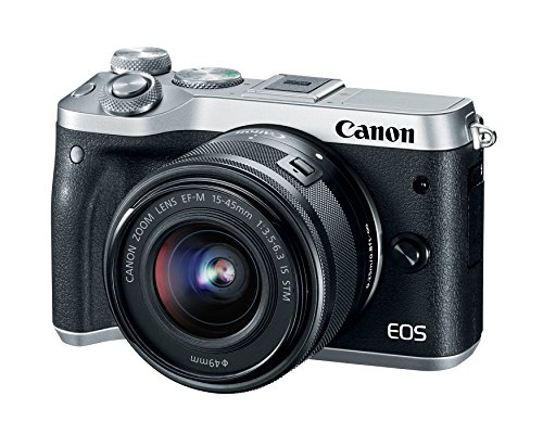 Canon EOS M6 (Silver) EF-M 15-45mm f/3.5-6.3 IS STM Lens Kit
