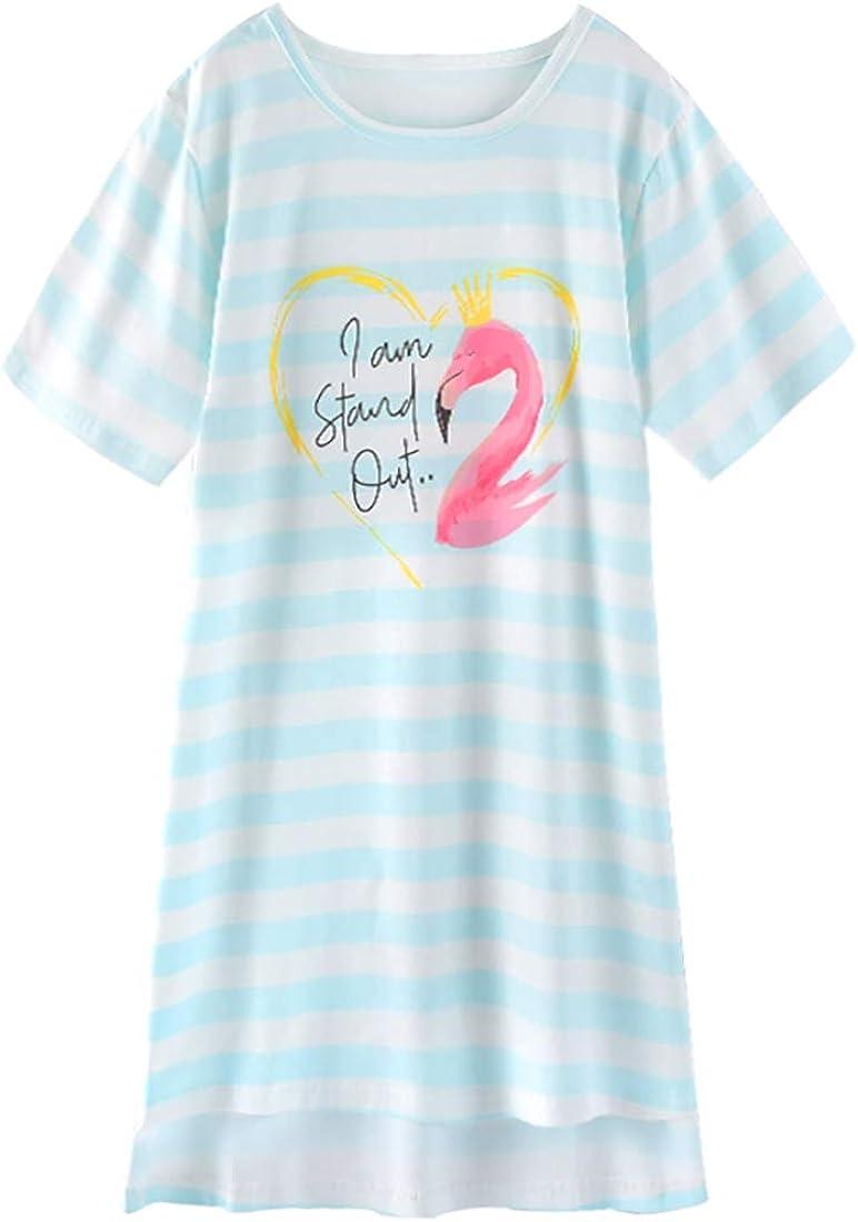 ABClothing M/ädchen Frauen Matching Cotton Nighties Meerjungfrau Flamingo PJS Kleid Pink 3-14 Jahre S M L.
