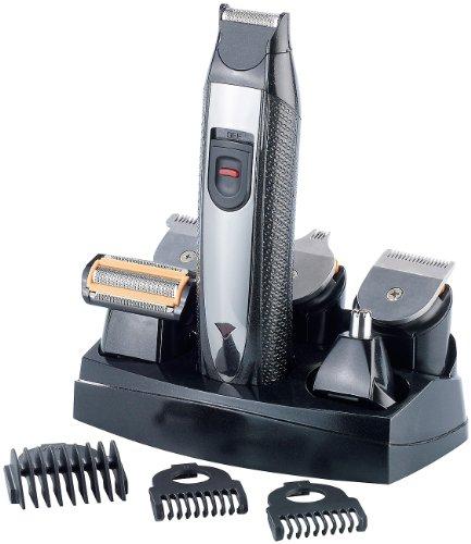 Sichler Men's Care Haartrimmer: 6in1-Akku-Trimmer-Set, Körper- & Bart-Rasierer, Haarschneider u.v.m. (Elektrischer 6-in-1 Rasierer)