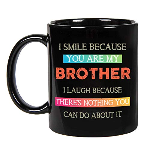 Fathers Day Presents For Brother, Big Brothers Presents, Little Brother Birthday, Funny Coffee Mug Cup Ideas, Happy Funny Mugs From Brother and Sister on Birthday, Christmas Coffee Mug (11oz)