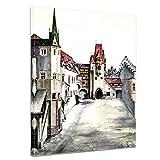 Leinwandbild Albrecht Dürer Der Hof der Burg zu Innsbruck