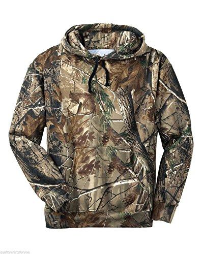 Russell Outdoors Mens Hoodie Realtree AP Camo Hunting Sweatshirt (Large)