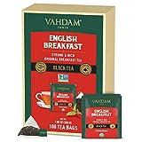 VAHDAM, Orgánica Té English Breakfast (100 Bolsitas de Té) | ALTO EN ENERG�A Y CAFE�NA – Sano Sustituto del Café | Té Fuerte, Robusto y Sabroso | RICO EN ANTIOXIDANTES