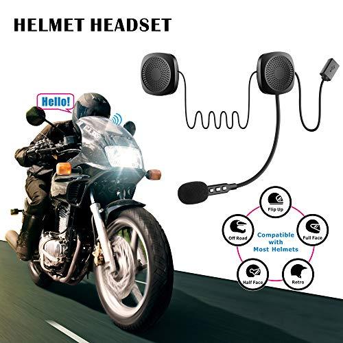Motorrad-Bluetooth-Headset 5.0,Wasserdicht,Sport-Lautsprecher, Freisprecheinrichtung,Outdoor-Helm,Kopfhörer mit automatischer Anrufannahme,hohe Klangqualität,Rauschunterdrückung, Sprachsteueru