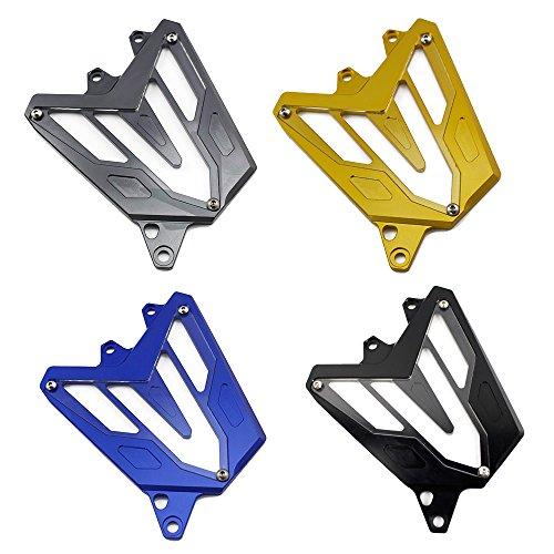 FATExpress Protection de chaîne de moto CNC en aluminium pour Yamaha FZ MT 07 FZ-07 MT-07 FZ07 MT07 MT07 2014 2015 13-16 (gris)