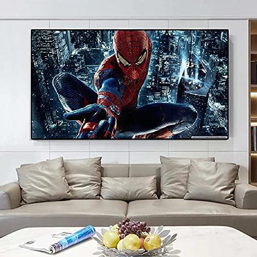Película Personaje de dibujos animados Serie de superhéroes Pintura en lienzo Carteles e impresiones Imágenes de pared para la decoración del hogar de la habitación de los niños   70x140cm Sin marco