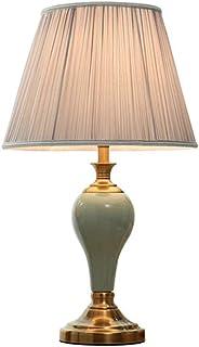 JEONSWOD Style Européen Lampe De Chevet, Éclairage Décoratif Chaud En Chambre Avec Unique Et Lumière Abat Base De Métal
