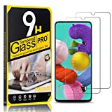Tempered Glass Screen Protector Compatible with Galaxy A51, UNEXTATI 9H Hardness Screen Protector Film, HD Clear Tempered Glass Film for Samsung Galaxy A51, 2 Pack