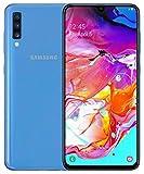 Samsung Galaxy A70 SM-A705F/DS Dual-SIM (128GB ROM, 6GB RAM, 6.7-Inch, GSM Only, No CDMA) Factory Unlocked 4G/LTE Smartphone - International Version (Blue)