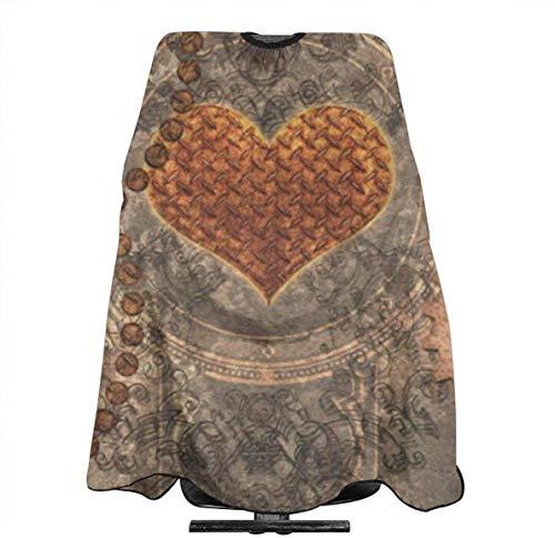 Capa de corte de pelo steampunk Maravilloso corazón oxidado personalizado corte de pelo peluquería cubierta para el corte de pelo hogar peluquería Wrap delantal 55 x 167 cm