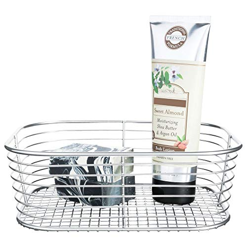 Price comparison product image iDesign Vienna Vanity,  Small Metal Bathroom Storage Cosmetics and Accessories,  Multipurpose Wire Basket for The Home,  Silver,  Steel