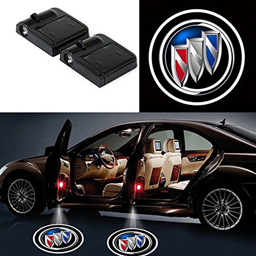 Bearfire Car Door Lights Logo Fit Buick Car Door Projector Light Led Welcome Lights Car logo Suitable For All Models (2Pcs)