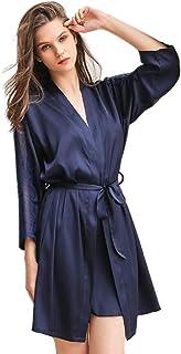 Alvivi Peignoir Satin Robe de Chambre Femme Nuisette D/éshabill/é V/êtements de Nuit Femme Plume Lingerie Longue Robes de Mari/ée