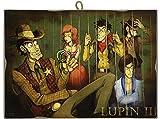 KUSTOM ART Quadro Quadretto Stile Vintage Serie Lupin III Dietro Le Sbarre da Collezione S...