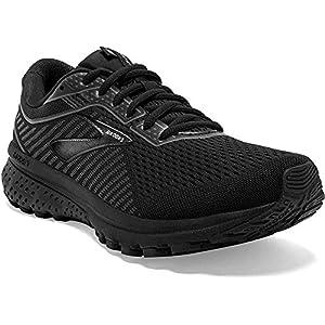 Brooks Womens Ghost 12 Running Shoe - Black/Grey - B - 8.0