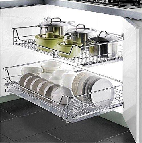 GOTOTOP Organizador Deslizante del Gabinete para Cocina Cesta de Cable Cromado de...