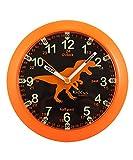Kiddus Reloj Pedagógico para Niñas y Niños. De Pared, Analógico. Aprende la Hora con Nuestro Fácil Sistema Time Teacher. Ejercicios Incluídos. Mecanismo Silencioso. KI50116 Dino UK