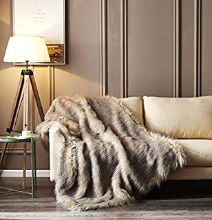 EverRouge Daisy Faux Fur Throw,Luxe Home Faux Fur Blanket,50 x 60 inch, Acrylic,1 Throw