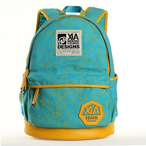 Sincere® Fashion Backpack / Zipper Sacs à dos / rue mode / sac multifonction / Canvas / sac à bandoulière casual / extérieur sac à dos jaune