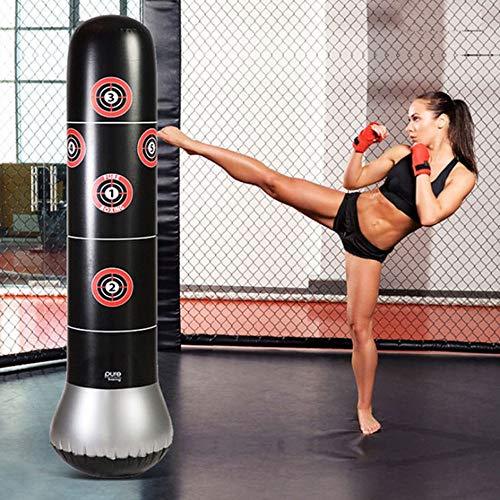WGYDREAM Boxsack Standboxsack Aufblasbare freistehende Fitness-Target Stand Tower-Tasche, Tumbler Column Sandbag Aufblasbarer Standboxsack