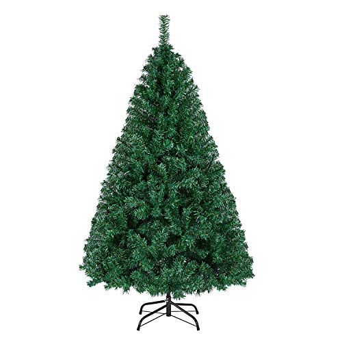 Yaheetech 5FT Christmas Tree 718 Tips Artificial Hinged Spruce Christmas Tree Lifelike Xmas Tree with Foldable Stand