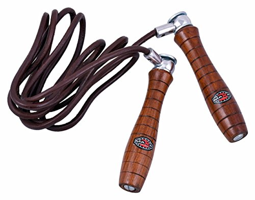 Maxx real leather adjustable weighted skipping rope, fittness