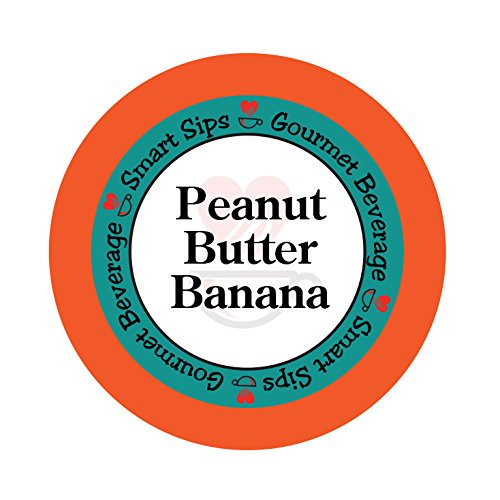 Smart Sips, Peanut Butter Banana Flavored Coffee, 24 Count, Compatible With All Keurig K-cup Brewers