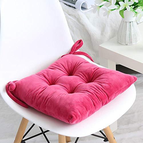 JKCTOPHOME Cuscini per sedie da Pranzo,Cuscino per Sedia da Pranzo Addensato Invernale Semplice Cuscino da Giardino in Tinta Unita-D_36X36cm,Cuscino per Pavimento