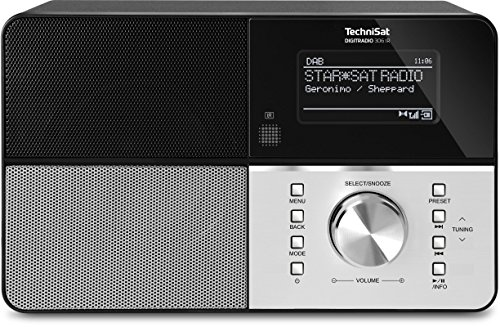 TechniSat Digitradio 306 IR Internetradio (Spotify, WLAN, LAN, DAB+, DAB, UKW, Radiowecker, Wifi Streamingfunktion, Multiroom, Audio-Eingang, USB, 5 Watt Lautsprecher) schwarz/silber