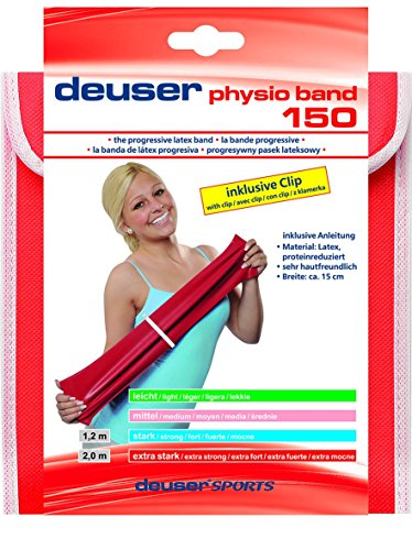 Deuser Physio Band 150 2 m Physioband, rot, One Size