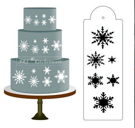 Global Brands Online Flocon côté gâteau Pochoir Concepteur frontière Artisanat décoration Outil Cookie de Cuisson