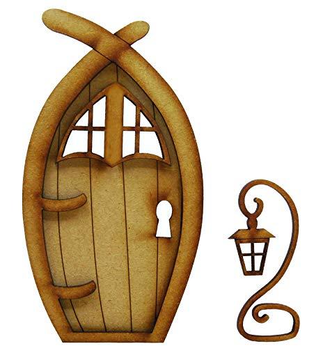 Narnia Feentür 3-dimensionale Selbstmontage Holz Feentür Bastelset mit Feenfenstern und magischer Laterne