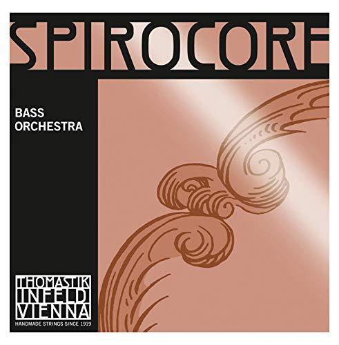 Thomastik 644242 Saiten für Kontrabass Spirocore Spiralkern Orchesterstimmung, Satz 3/4 weich für Mensur 1040-1060 mm / 41-41.7 Zoll
