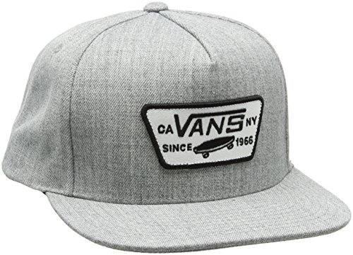 Vans Herren Full Patch Snapback Baseball Cap, Grau (HEATHER GREY HTG), One Size